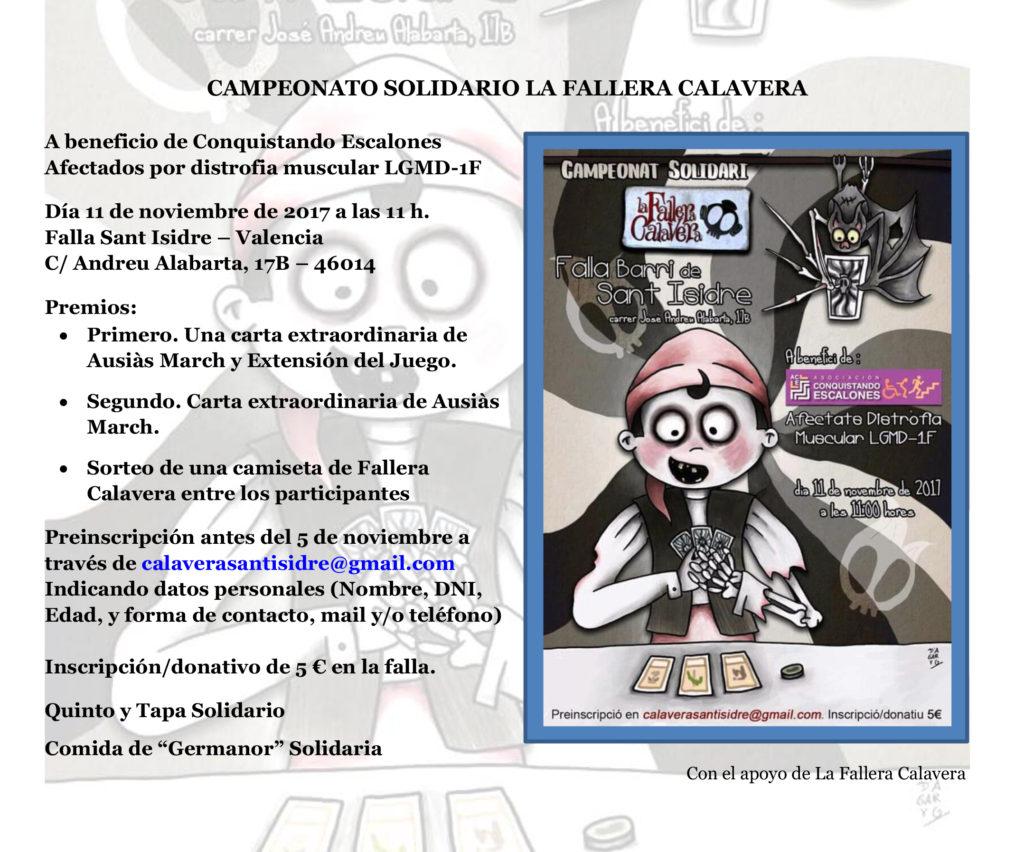 Campeonato Solidario La Fallera Calavera